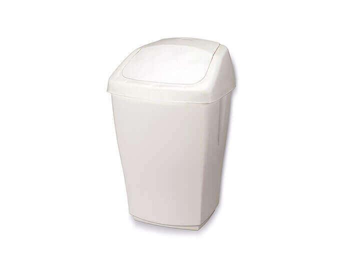 אשפתון פלסטיק עם מכסה מתנדנד